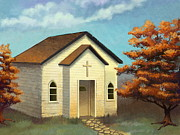 Church Digital Art Prints - Country Church Print by Michael Keene