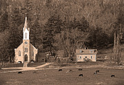 Iowa Greeting Cards Posters - Country Church Poster by Randall Branham