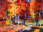 Best Choice Paintings - Country Club Fall plein air by David Lloyd Glover