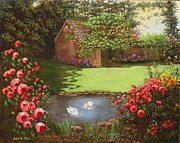Jeanene Stein - Country Cottage by a Pond