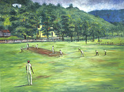 Cricket Paintings - Country cricket by Vaughn Tucker