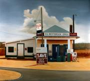 Gas Stations Prints - Country Crossroads Print by Doug Strickland