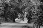 Black And White Rural Photography Prints - Country Drive Print by Andrew Soundarajan