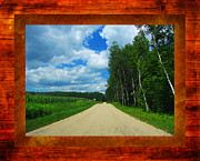 Country Road Mixed Media Prints - Country Drive Print by Ms Judi