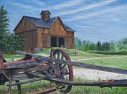 Old Barn Paintings - Country Farm by Vicky Path