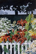 Tryptych Originals - Country Garden 2 Of 3 by Andrew Drozdowicz