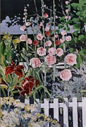 Tryptych Originals - Country Garden 3 Of 3 by Andrew Drozdowicz