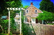 Grist Mill Art - Country Garden by Paul Ward