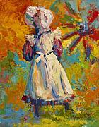 Figure Paintings - Country Girl by Marion Rose