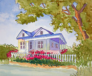 Hall Painting Prints - Country Home Print by Jeanne Hall