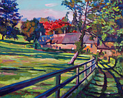 Fences Paintings - Country House by David Lloyd Glover