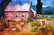 Cottage Country Paintings - Country house by Frances Marino