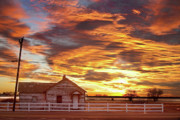 Commercial Space Art Framed Prints - Country House Sunset Longmont Colorado Boulder County Framed Print by James Bo Insogna
