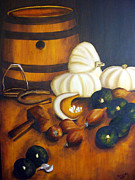 Wine Barrel Paintings - country kitchen II by Yolande Havenga