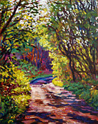 Roads Paintings - Country Lane by David Lloyd Glover