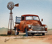 Windmill Paintings - Country Memories by James Williamson