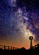 Star Gazing Framed Prints - Country Milky Way Framed Print by Larry Landolfi
