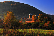 Red Barns Photos - Country Mornings - West Pawlet Vermont by Thomas Schoeller
