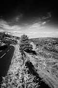 Mountain Road Prints - Country Mountain Road Through Glenaan Scenic Route Glenaan County Antrim  Print by Joe Fox