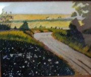 Country Scenes Originals - Country Path by Juanita Couch