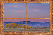 Picture Window Frame Photos Art - Country Peaceful Morning Wood Picture Window Frame Photo Art by James Bo Insogna