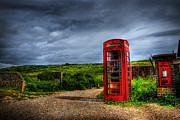 Sussex Framed Prints - Country Phone Box Framed Print by Yhun Suarez