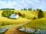 Ohio Paintings - Country Road by Esther Marie Versch