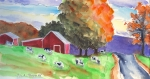 Liberty Paintings - Country Road by Mary Byrom