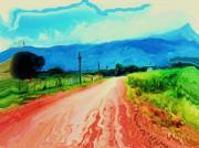 Honduras Painting Framed Prints - Country Road Framed Print by Nereida Slesarchik Cedeno Wilcoxon