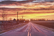 Country Roads Photos - Country Road Sunrise by James Bo Insogna