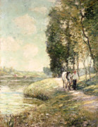 Horse Prints - Country Road to Spuyten Print by Ernest Lawson