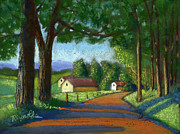 Reynolds Paintings - Country Road Turn by Dan Reynolds