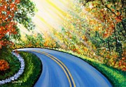 Usha Rai Art - Country Road by Usha Rai