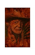 Singer Painting Originals - Country Singer by Angela Mullhatten
