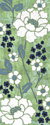 Stems Prints - Country Spa Floral 1 Print by Debbie DeWitt