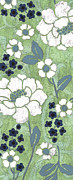 White Floral Prints - Country Spa Floral 2 Print by Debbie DeWitt