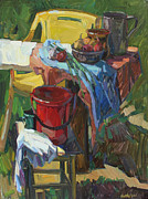 Modern Russian Art Posters - Country Still Life Poster by Juliya Zhukova