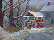 Store Pastels - Country Store At Christmas by Constance Alexander