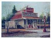 Country Store Painting Framed Prints - Country Store  Framed Print by Charles Roy Smith