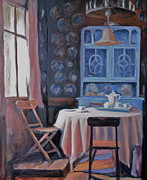 Interior Still Life Paintings - Country sunlight by Marzanna Sabo