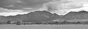 Flagstaff Posters - Country View of the Flagstaff Fire Panorama BW Poster by James Bo Insogna