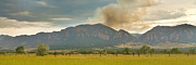 Flagstaff Framed Prints - Country View of the Flagstaff Fire Panorama Framed Print by James Bo Insogna