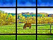 Cows Mixed Media - Country View by Stephen Younts