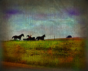 Amish Country Prints - Country Wagon 2 Print by Perry Webster