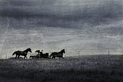 Amish Prints - Country Wagon Print by Perry Webster