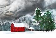 Winter Storm Mixed Media - Country winter by Gina Signore