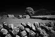 Outbuildings Framed Prints - Countryside Beneath Slieve Binnian In The Mourne Mountains Northern Ireland Framed Print by Joe Fox