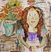 Pennsylvania Artist Drawings - Countryside Girl by Mary Carol Williams