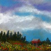 Flowers Pastels - Countryside III by David Patterson