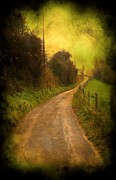 Cracks Digital Art Metal Prints - Countryside Road Metal Print by Svetlana Sewell